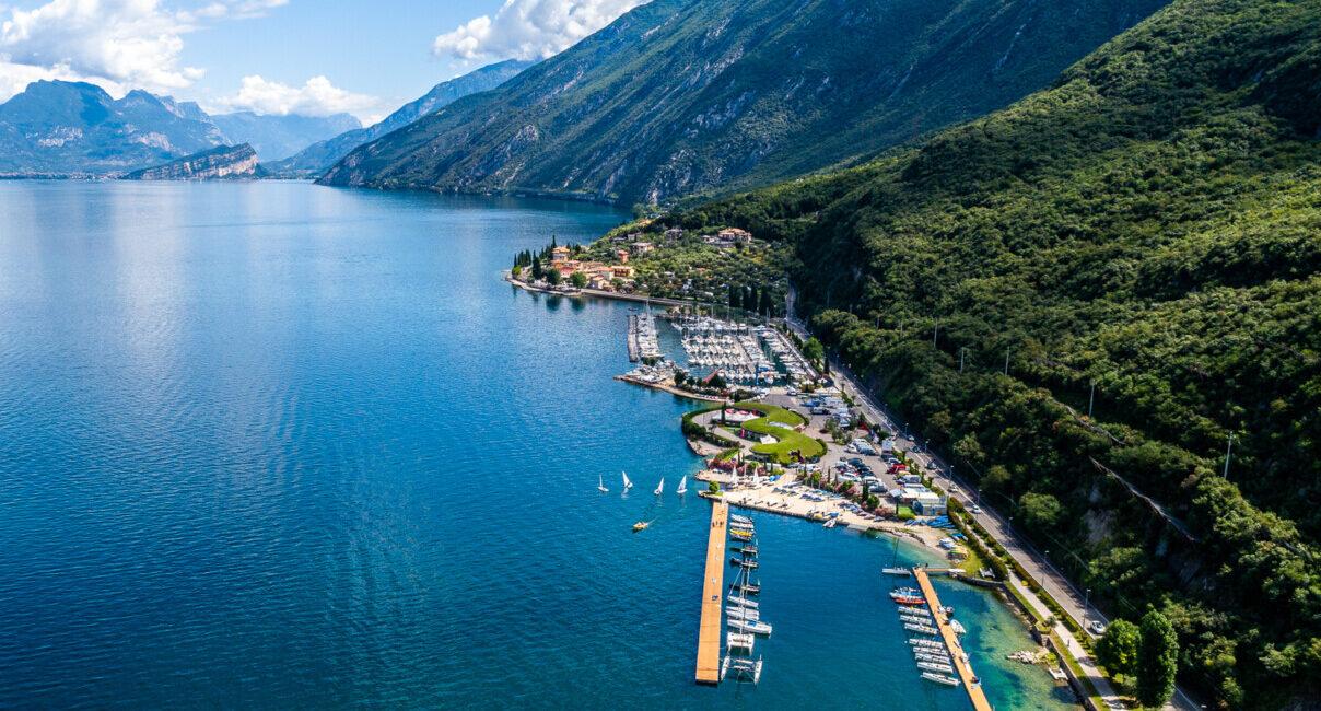 Fraglia Vela Malcesine veduta aerea Lago di Garda