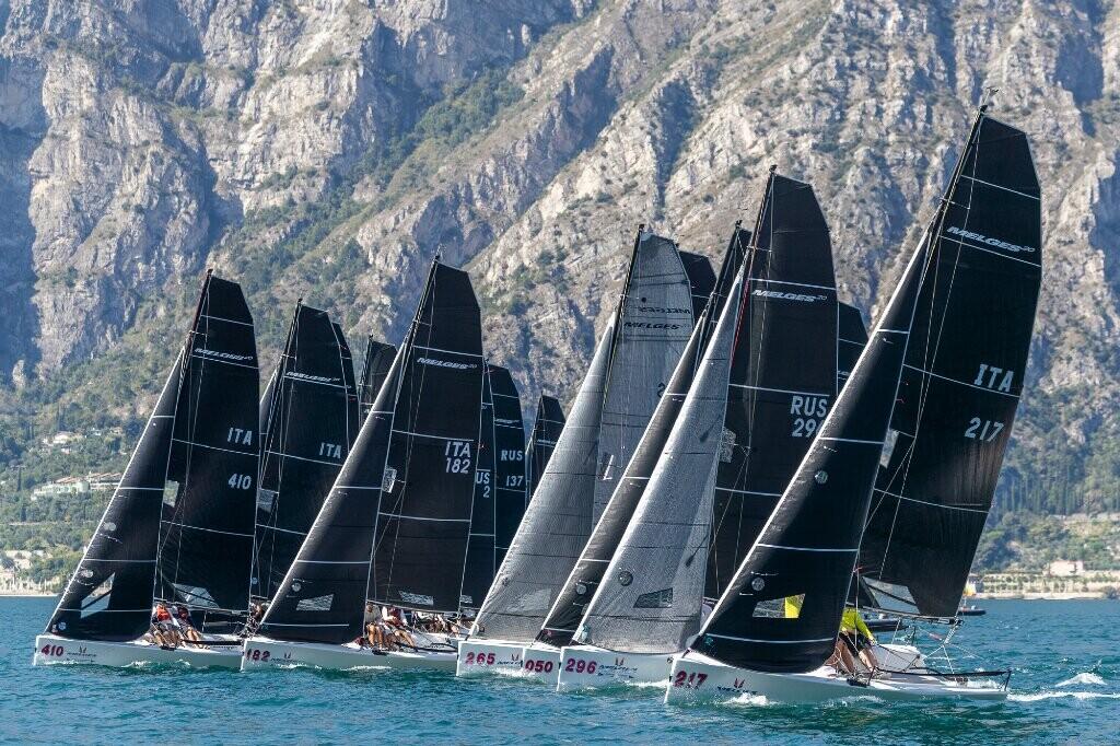 Melges 20 in regata alla Fraglia Vela Malcesine, durante il Campionato Europeo 2019