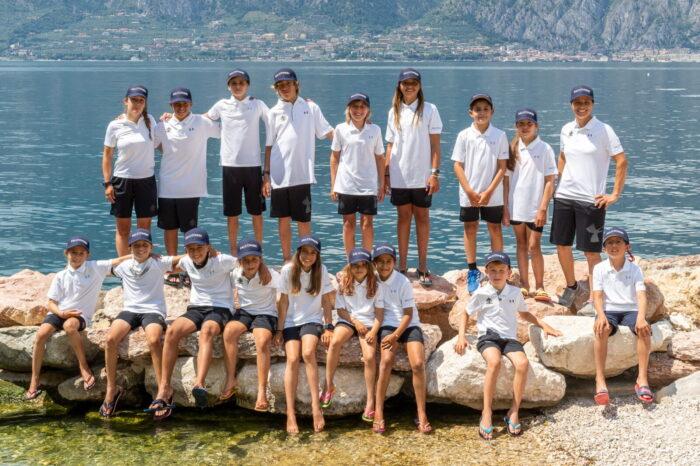 squadra agonistica optimist fraglia vela malcesine lago garda