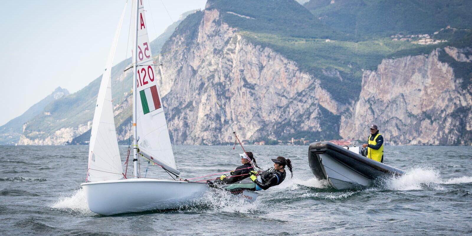 Allenamento 420 Fraglia Vela Malcesine Lago di Garda