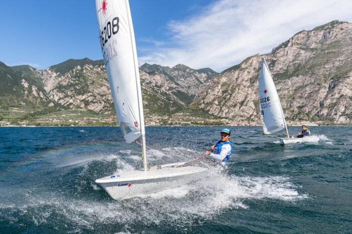 Allenamento Laser Fraglia Vela Malcesine Lago di Garda