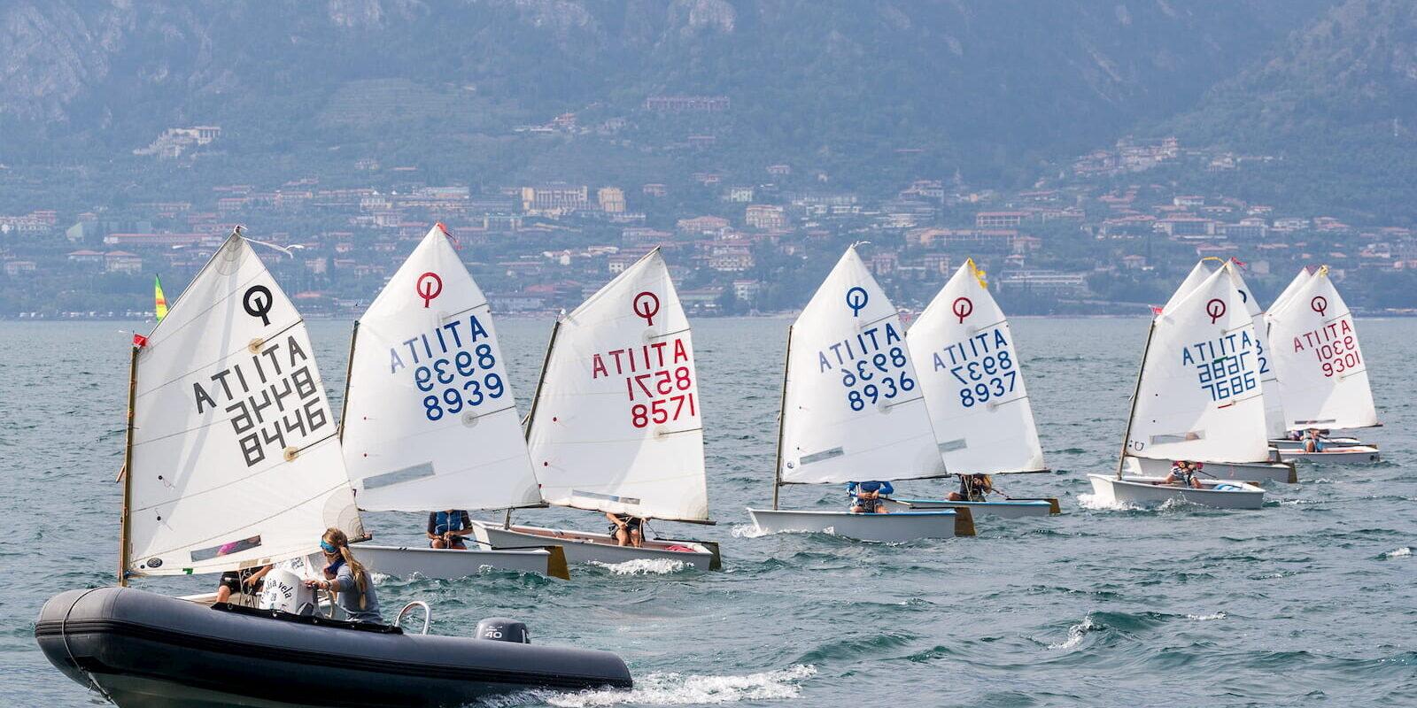Allenamento Optimist Fraglia Vela Malcesine Lago di Garda