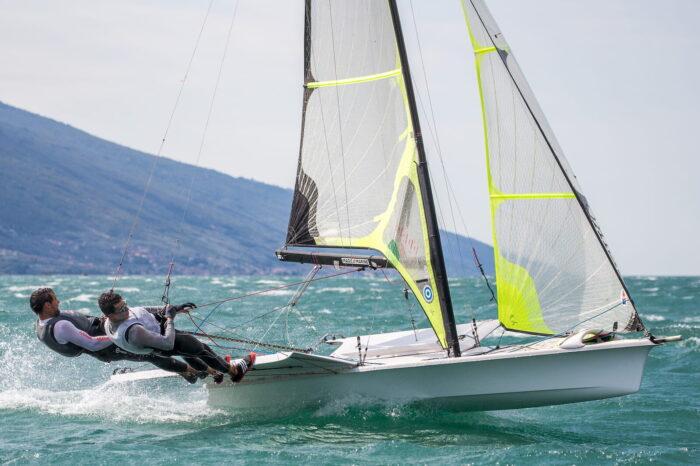 atleti 49er olimpici fraglia vela malcesine lago garda
