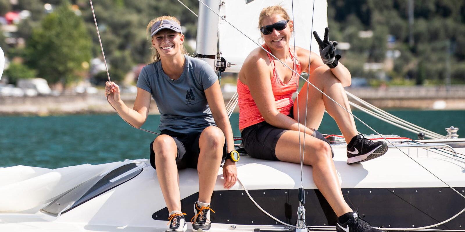 barca a vela vacanza fraglia vela malcesine lago garda