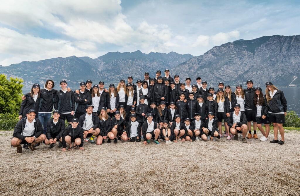 gruppo squadre agonistiche 2018 fraglia vela malcesine lago garda
