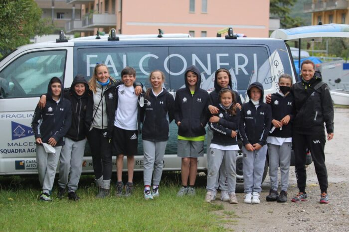 squadra optimist 39 meeting riva fraglia vela malcesine